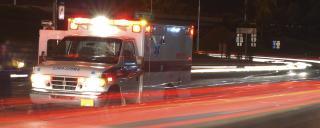 ambulance rushing on highway