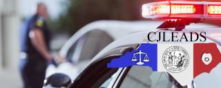 patrol car with CJLEADS logo overlay