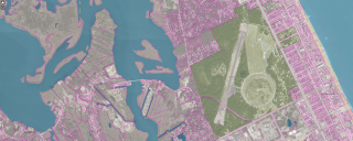 Image of the statewide parcels data found on NC OneMap.