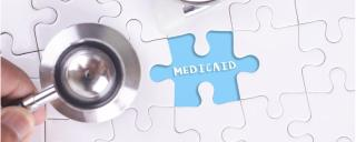 Medicaid puzzle with stethoscope
