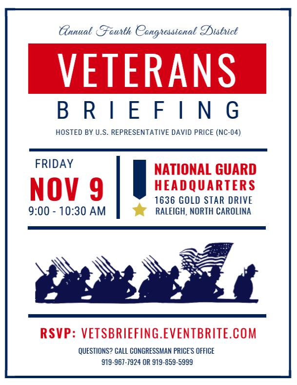 Verterans Briefing Flyer