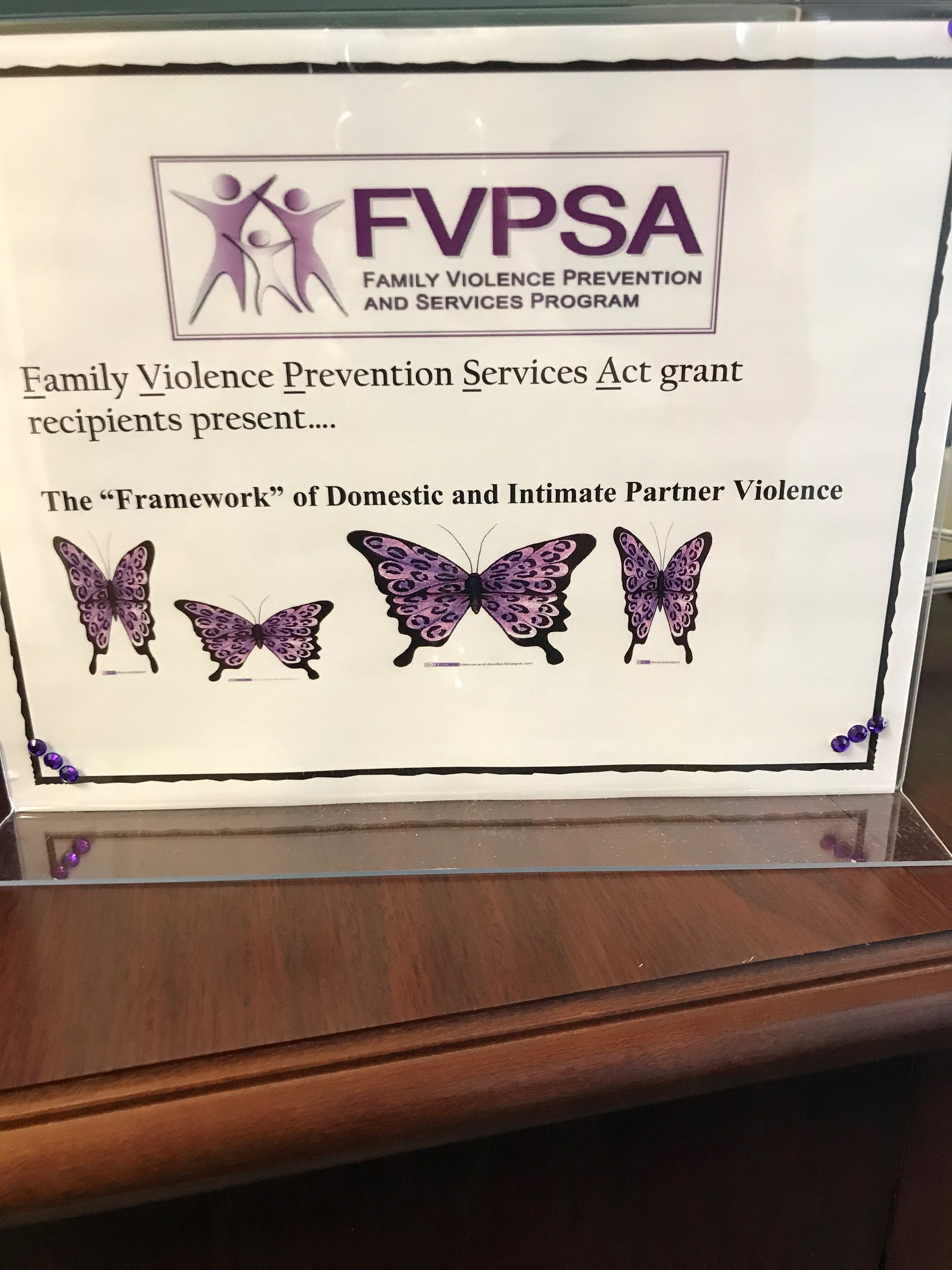 "FVPSA Poster - The ""Framework"" of Domestice and Intimate Partner Violence"