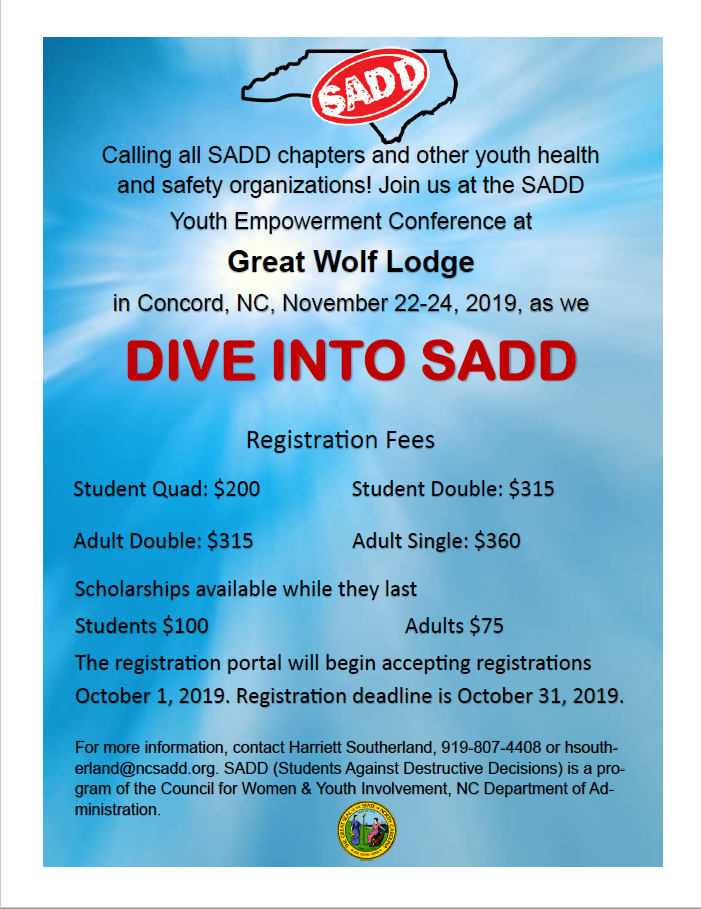 Dive into SADD Brochure