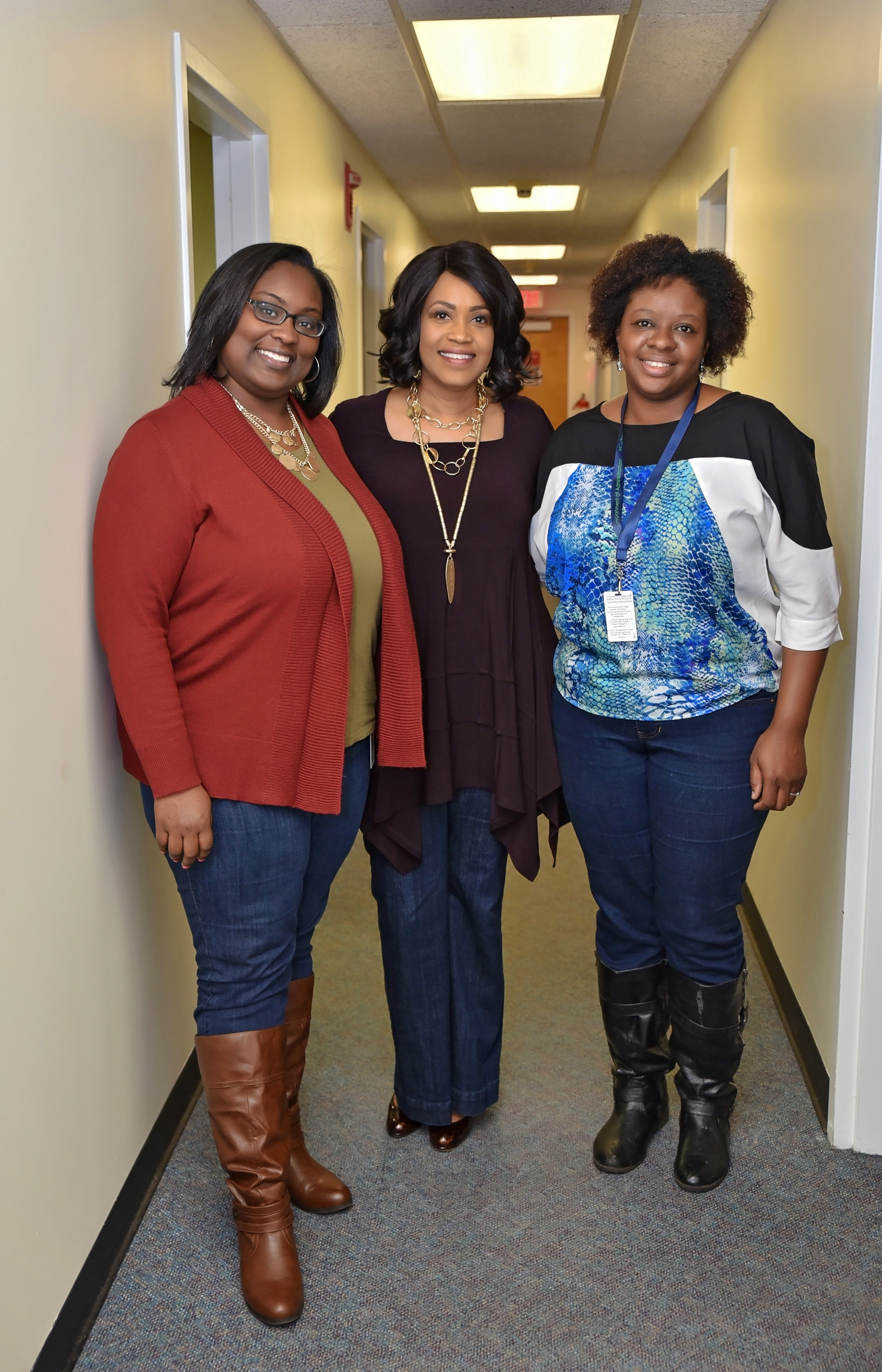 Candace Dudley, Internship Coordinator ~ Machelle Sanders, Secretary – Department of Administration ~ Kiricka Yarbough Smith, COPE Human Trafficking Project Administrator