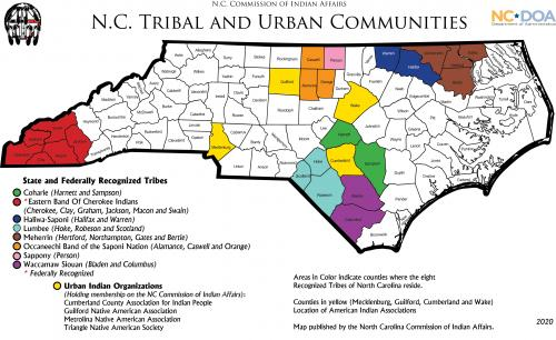 Map of NC Tribal Communities