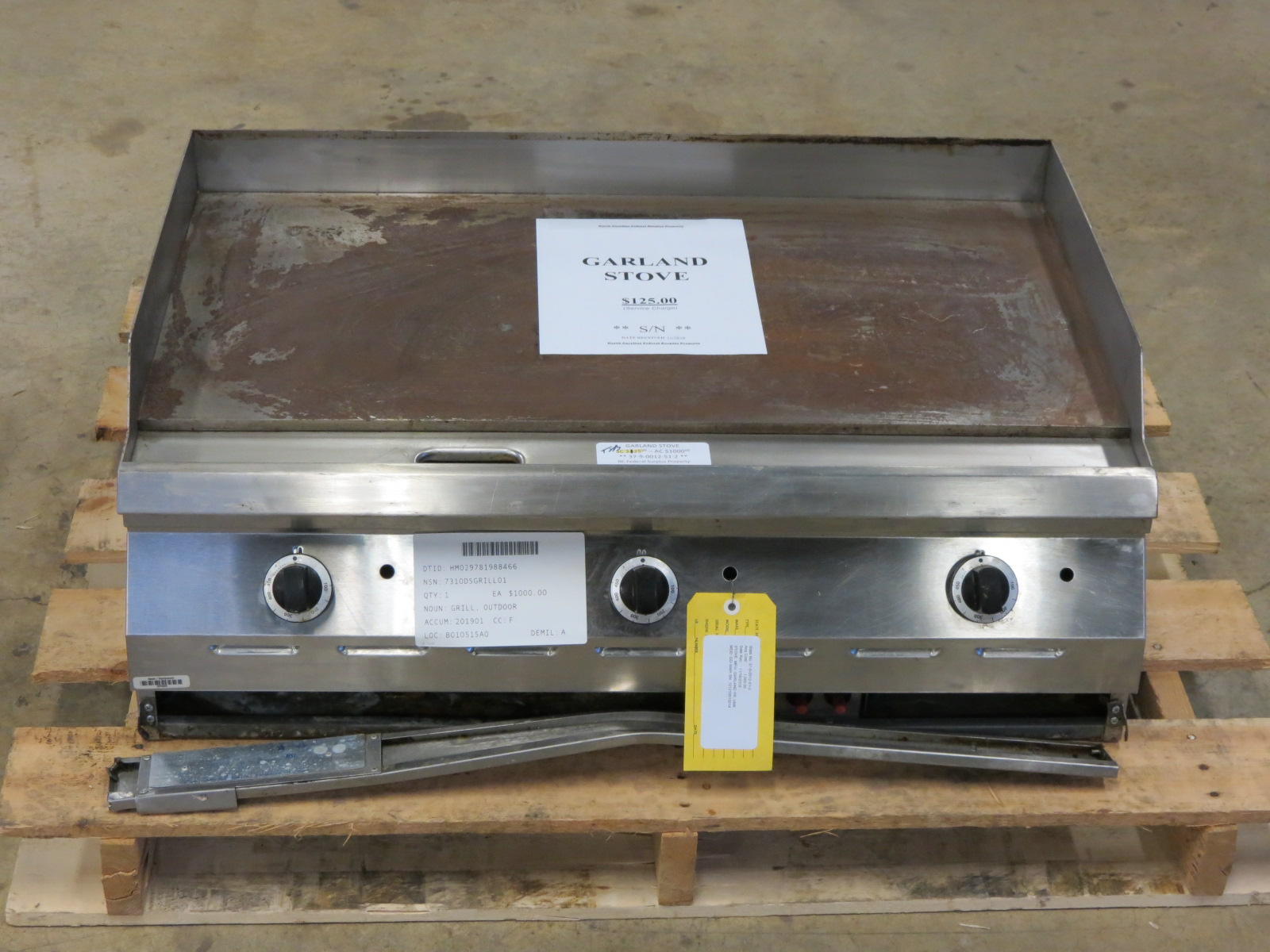 Flat top griddle