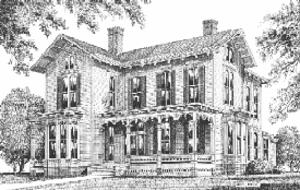 Merrimon-Wynne House Drawing