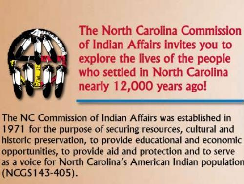 Publication image with NC Commission of Indian Affairs Logo
