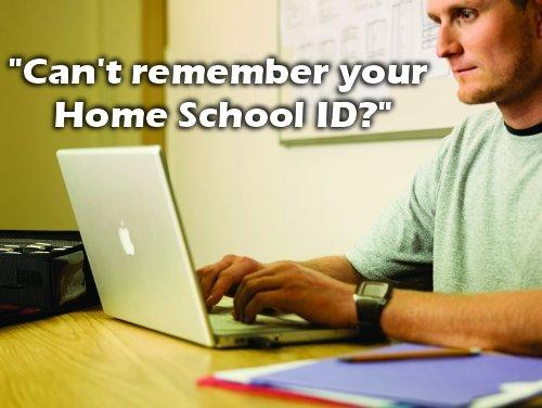 Retrieve Your Home School ID