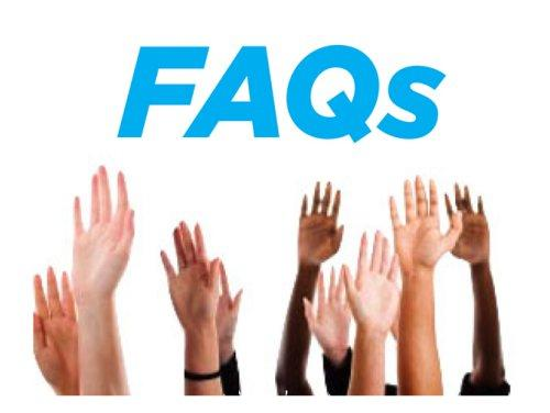 FAQs and hands in the air