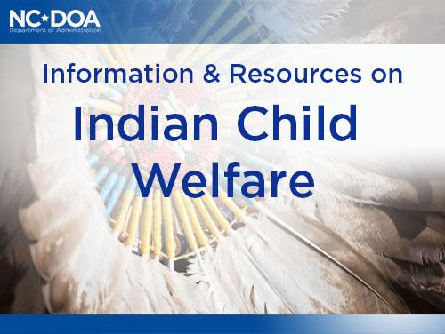 Indian Child Welfare title on background of dreamcatcher