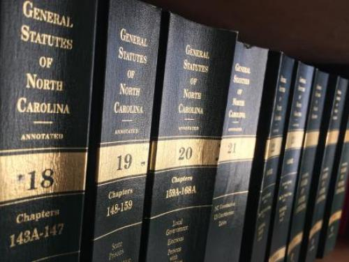Row of law books