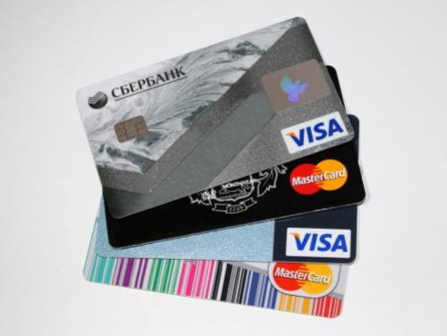 VISA and Mastercard banking cards