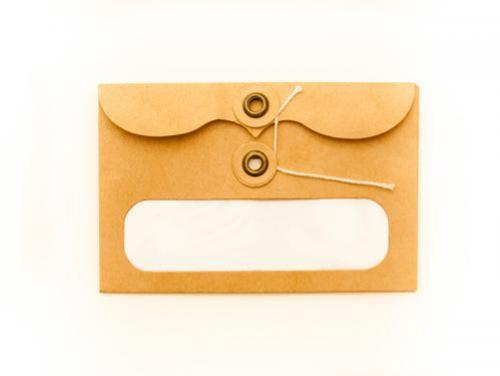 Manilla envelope with wrap-around closure