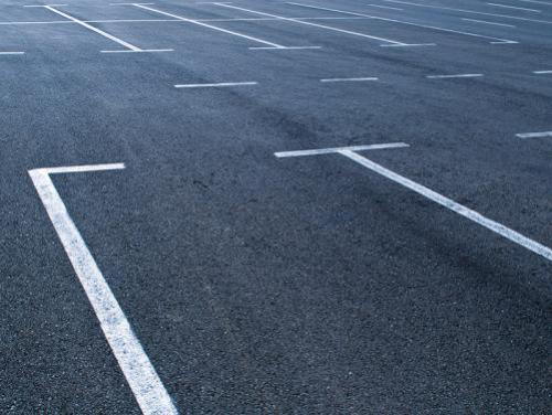 Empty parking lot space