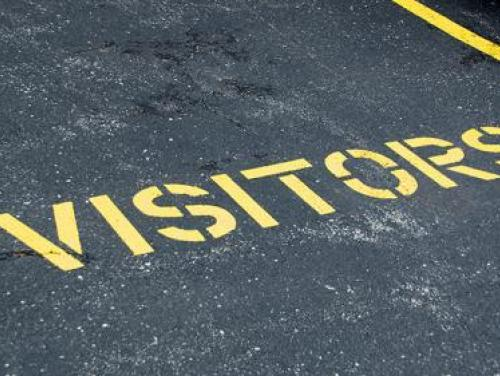 Visitors parking space