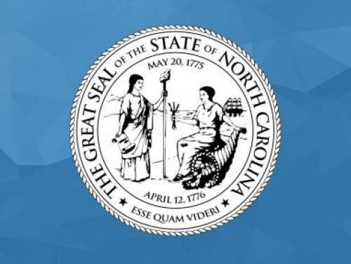 North Carolina State Seal in blue background