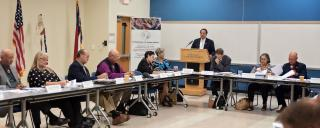 Photo of Commission of Indian Affairs meeting in progress