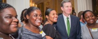 Governor Cooper with Interns