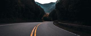 Open road photo in the mountains
