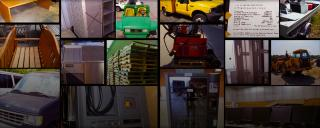 Collage of state surplus property