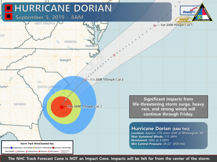 Hurricane Dorian weather briefings