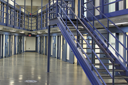 close custody cell block