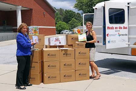 Correction Enterprises employees donated 2,000 books to the 'Meals on the Bus' program