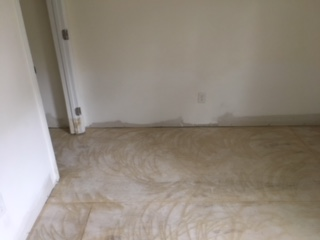 STEP repaired flooring