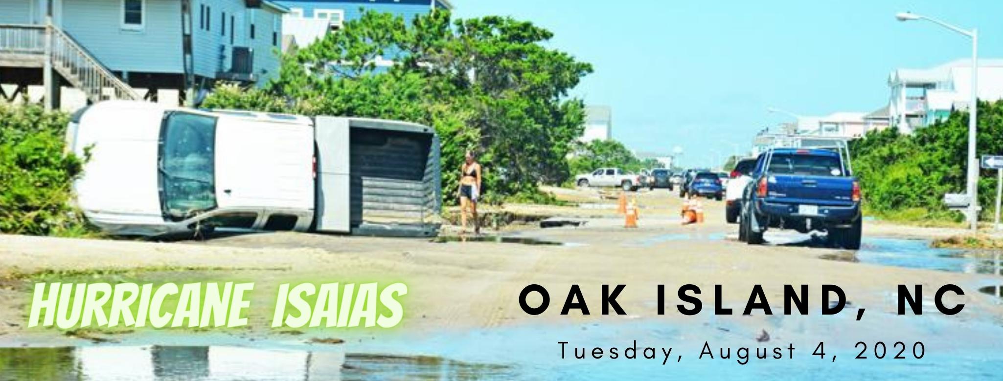 Hurricane Isaias - Oak Island image