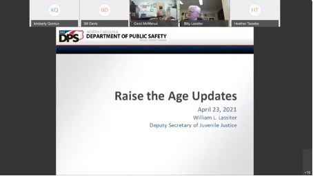 Raise the Age update slide