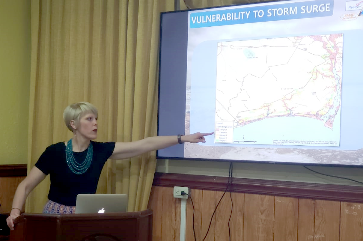 Katie Webster makes storm surge presentation