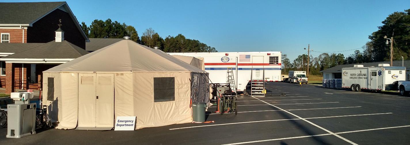 Mobile hospital in Kinston