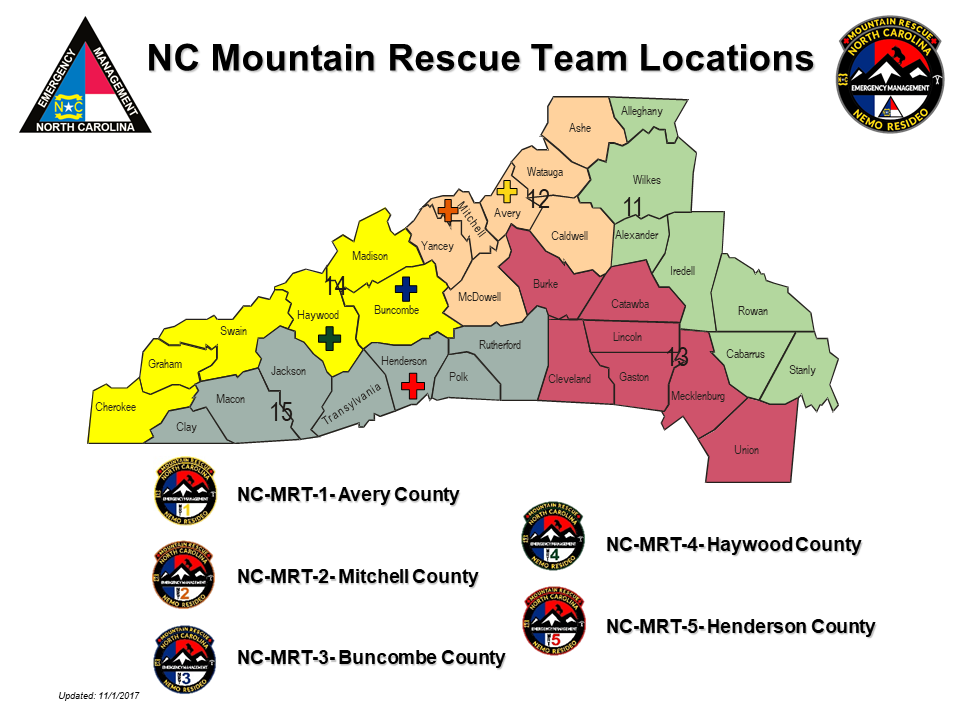 Mountain Rescue Teams map