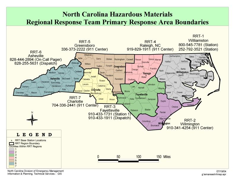 Regional Response Team Map