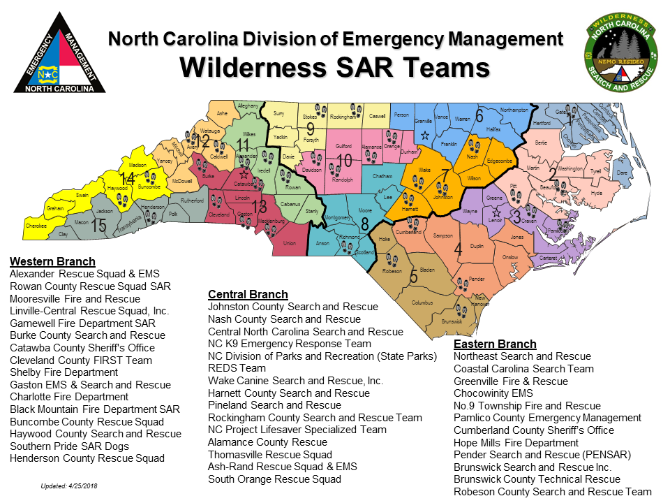 Wilderness SAR map