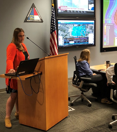 Diana Thomas delivers SERT weather briefing