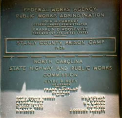 Stanly County Prison Work Camp, Public Works Administration