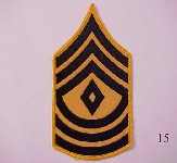 First sergeant stripes