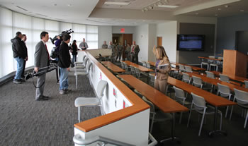 Press Conference Room, Joint Field Office, Raleigh
