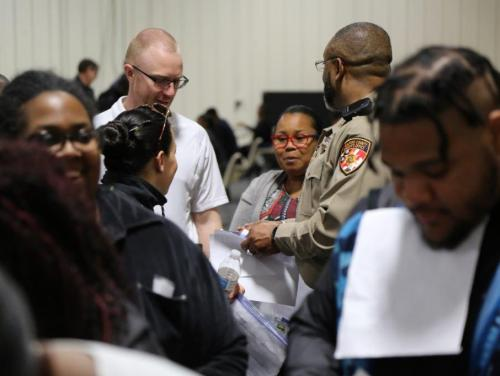 Guilford County reentry simulation training