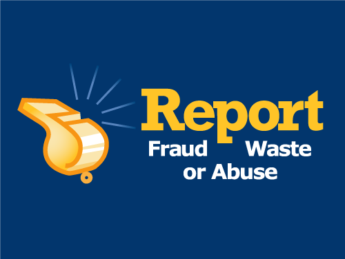 Report Fraud Waste or Abuse logo