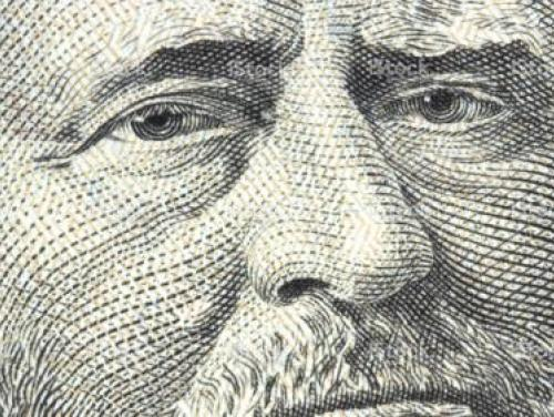 Close-up of an American bill of currency