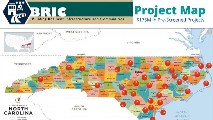 BRIC project map