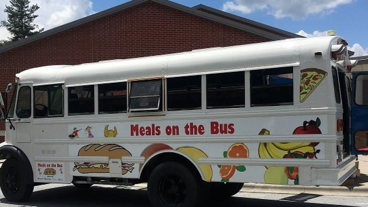 Picture of 'Meals on the Bus' refurbished bus