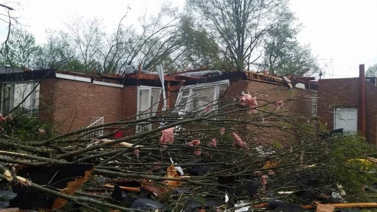 Tornado damaged home in Greensboro
