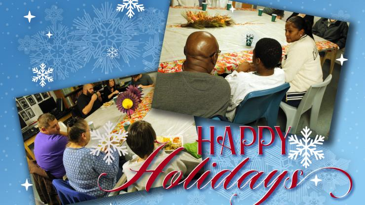 North Carolina youth within the juvenile justice system share holidays with facility staff and family members.