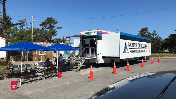 NCEM Trailer - Recovery Center on Ocracoke