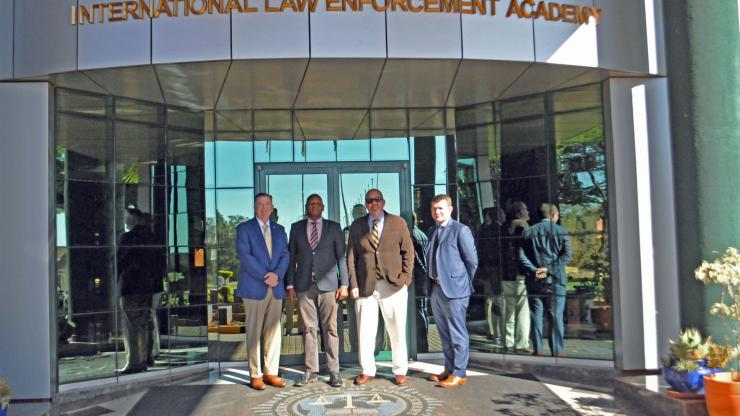 Delegates at Botswana's Law Enforcement Academy