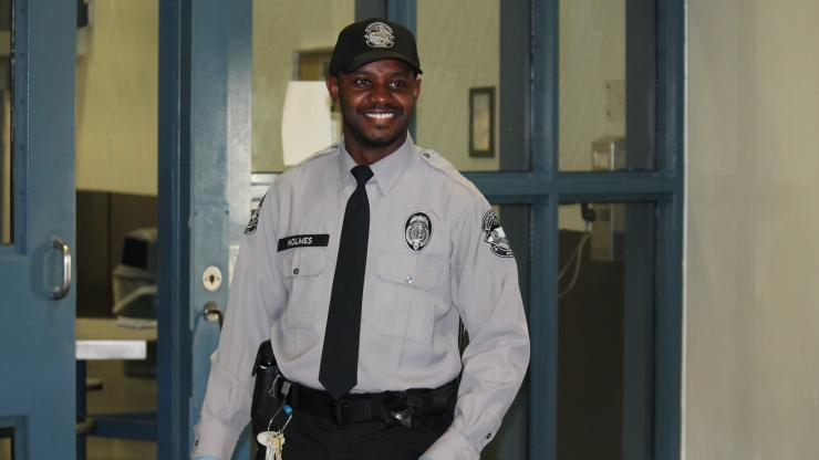 Correctional Officer At Work